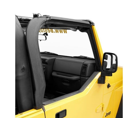 Jeep TJ Door Surround Kit w/Tailgate Bar 97-06 Jeep Wrangler TJ/Unlimited Black Bestop