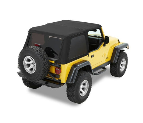 Jeep TJ Soft Top Trektop NX 97-06 Jeep Wrangler TJ Black Diamond Kit Bestop