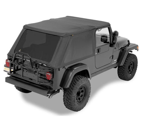 Jeep TJ Soft Top Trektop NX 04-06 Jeep Wrangler TJ Unlimited Black Diamond Kit Bestop