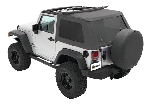 Jeep JK Soft Top Trektop NX Twill 07-17 Jeep Wrangler JK 2-Door Granite Gray Twill Kit Bestop