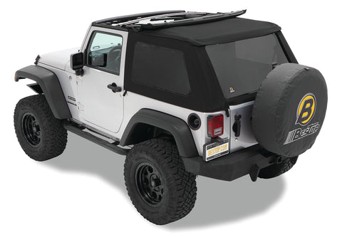 Jeep JK Replace-A-Top NX Only Tinted Windows 07-17 Jeep Wrangler JK 2-Door Black Twill Kit Bestop