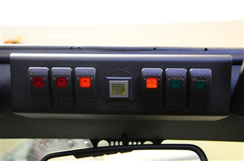 JK Switch Panel 6 Switch W/Genesis Adapter 09-17 Wrangler JK G Screen Not Included Multi Color sPOD
