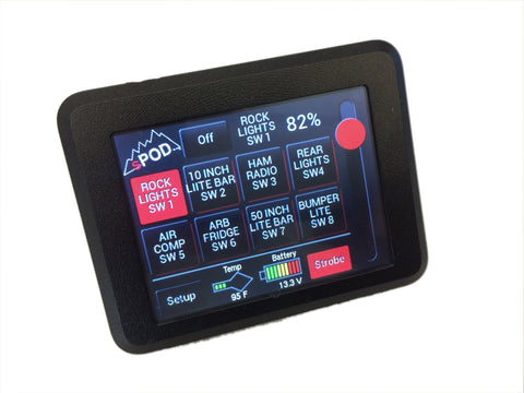 JK Swicth Panel 8 Circuit Source SE W/Touchscreen 07-17 Wrangler JK sPOD