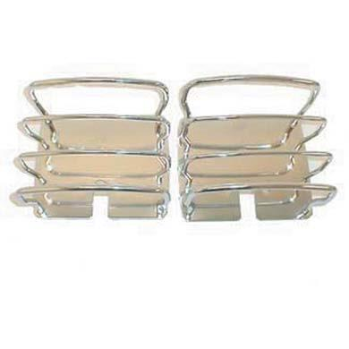 Euro Tail Light Guards 76-06 Wrangler CJ/YJ/TJ/LJ Stainless Steel Smittybilt