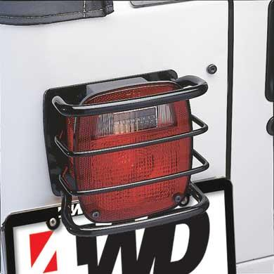 Euro Tail Light Guards 76-06 Wrangler CJ/YJ/TJ/LJ Black Smittybilt