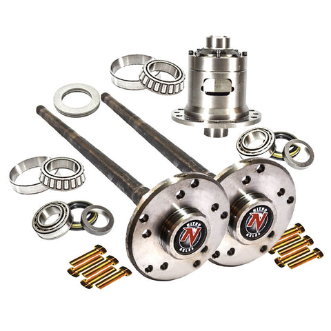 AMC 35 Axle Kit 30 Spline C/Clip W/Detroit Locker Jeep MJ TJ XJ YJ ZJ Nitro Gear and Axle