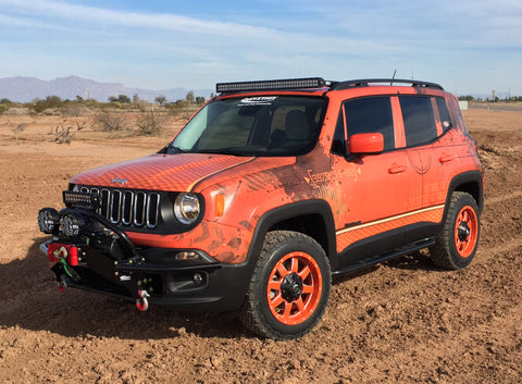 KJ50012BK  Rock Sliders for the Jeep Renegade
