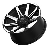 TUFF T-05 17x9.0 5/114.3/127 ET10 CB78.1 FLAT BLACK W/MACHINED FACE