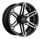 TUFF T-01 17x8.0 5/114.3/127 ET20 CB78.1 FLAT BLACK W/MACHINED FACE AND CHROME INS