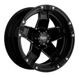 TUFF T-10 20x9.0 5/114.3/127 ET10 CB78.1 GLOSS BLACK W/MILLED SPOKES