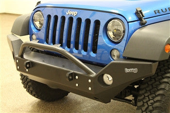 Rock Hard 4x4 Aluminum Patriot Series Full Width Front Bumper for Jeep Wrangler JK 2/4DR 2007 - 2016 [RH-5046]