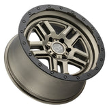 BLACK RHINO BARSTOW 17x9.5 5/127 ET-18 CB71.6 MATTE BRONZE W/MATTE BLACK LIP RING (ETCHED BLACK RHIN