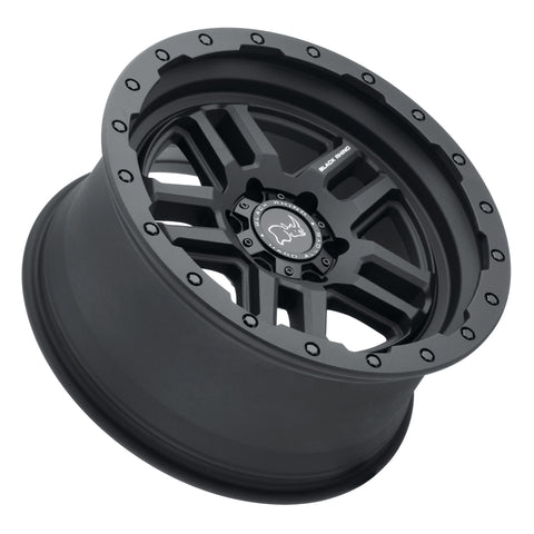 BLACK RHINO BARSTOW 18x8.0 5/127 ET30 CB71.6 TEXTURED MATTE BLACK (ETCHED BLACK