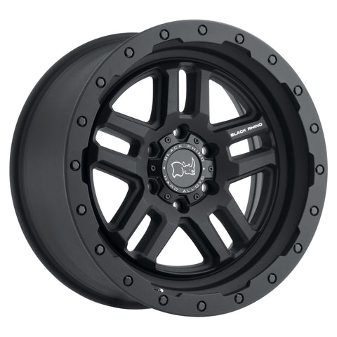 BLACK RHINO BARSTOW 17x8.0 5/114.3 ET30 CB76.1 TEXTURED MATTE BLACK (ETCHED BLAC