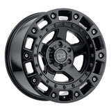 BLACK RHINO CINCO 20x9.5 5/127 ET-18 CB71.6 GLOSS BLACK W/STAINLESS BOLT