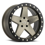 BLACK RHINO CRAWLER 17x9.5 5/127 ET-18 CB71.6 MATTE BRONZE W/MATTE BLACK RING
