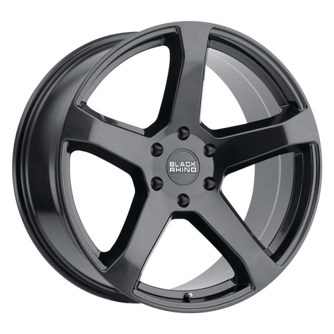 BLACK RHINO FARO 20x9.0 5/114.3 ET30 CB76.1 METALLIC BLACK