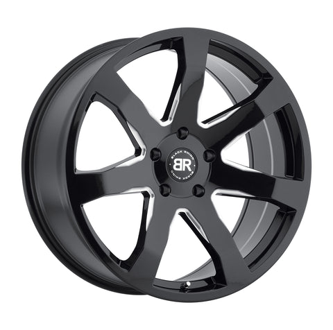 BLACK RHINO MOZAMBIQUE 20x8.5 5/114.3 ET35 CB76.1 GLOSS BLACK W/MILLED SPOKES