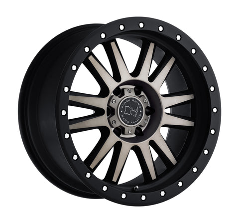 BLACK RHINO TANAY 18x8.0 5/114.3 ET32 CB76.1 MATTE BLACK W/MACHINE FACE AND DARK MATTE TINT