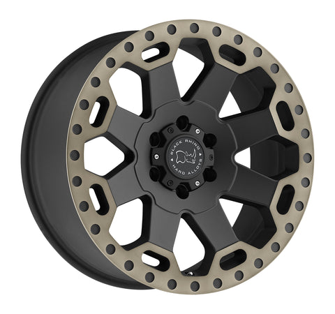 BLACK RHINO WARLORD 17x8.0 5/114.3 ET35 CB76.1 MATTE BLACK W/MACHINE DARK TINT LIP