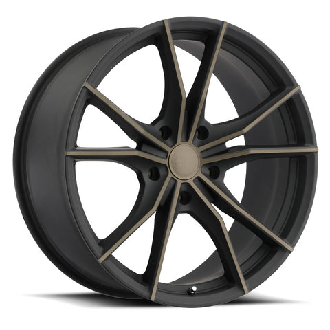 BLACK RHINO ZION 22x9.5 5/114.3 ET35 CB76.1 MATTE BLACK W/MACHINE FACE AND DARK MATTE TINT