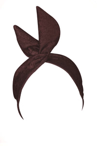 Burgundy, Chocolate, Textured, Wire Headband