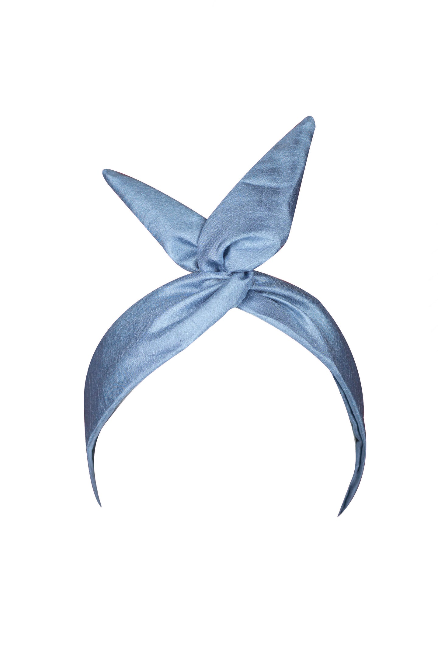 Baby Blue, Silk, Wire Headband
