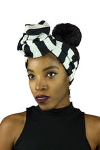 Black and White Stripped Wire Headband