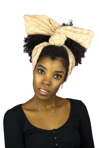 Light Pink Plush Wire Headband