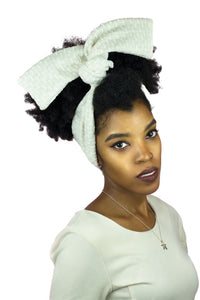 Cream and White Wire Headband