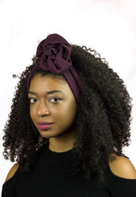Burgundy Wire Headband