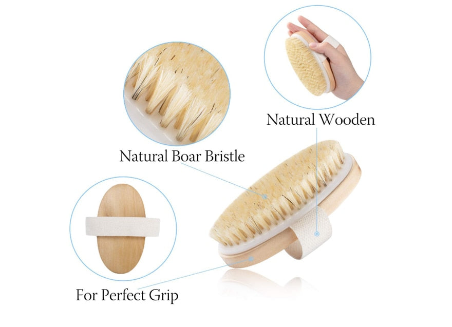 Organic Boar Bristle Body Dry Brush