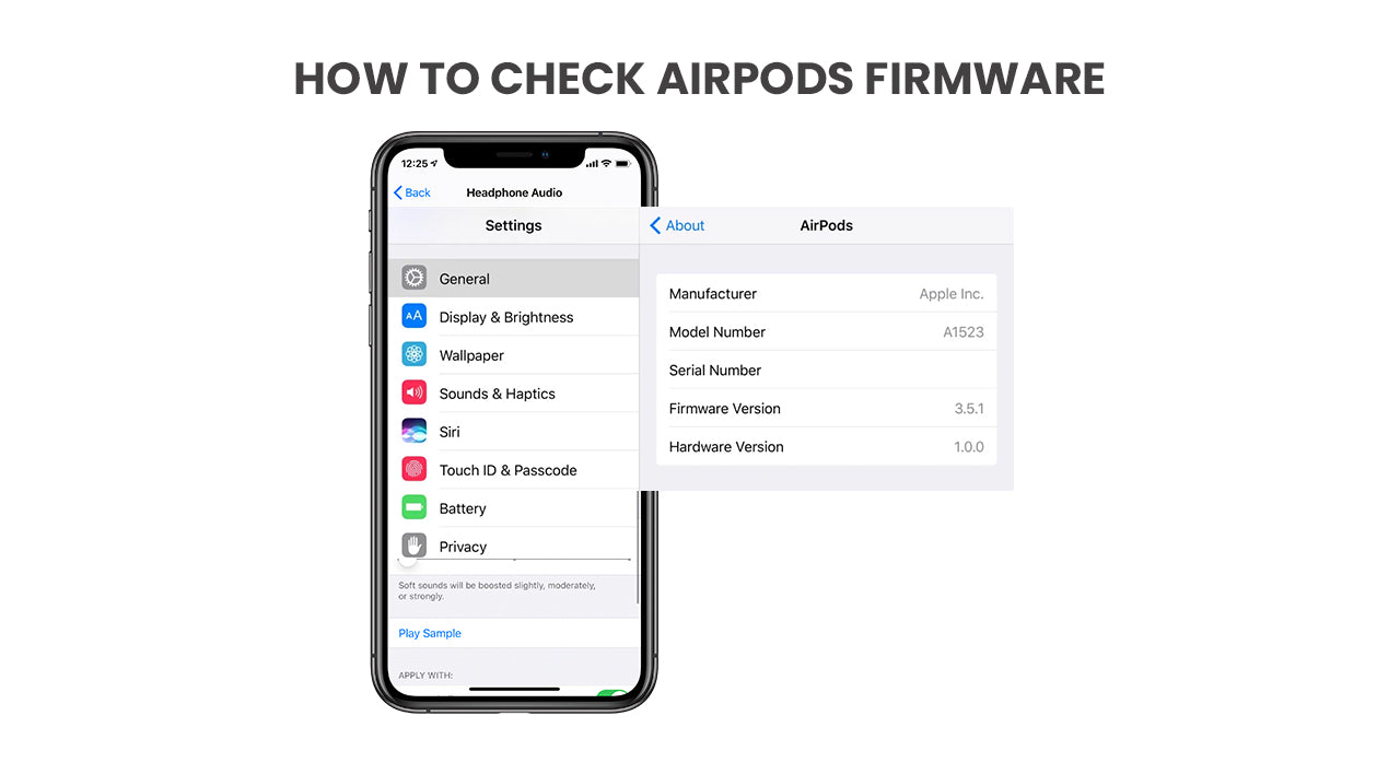 How to check AirPods firmware