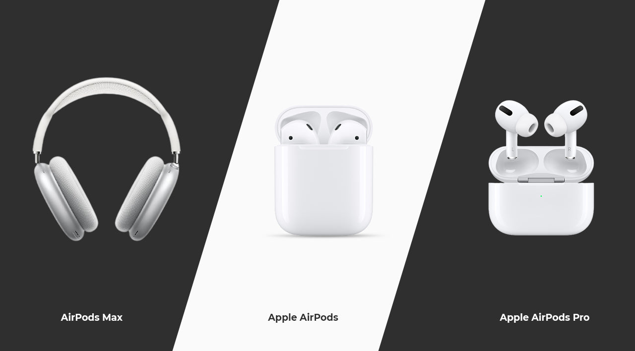 apple airpod max vs apple airpods vs apple airpods pro