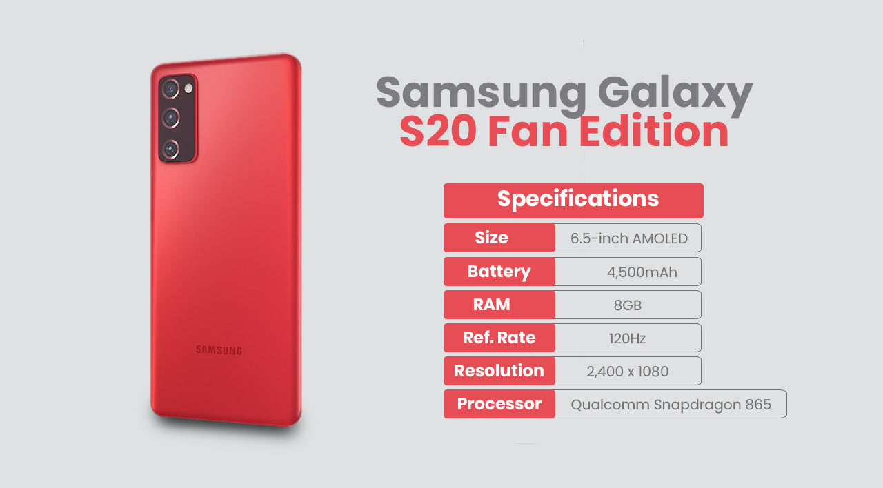 Samsung Galaxy S20 Fan Edition Specifications