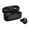 TWS Headphones Black TWS V5 Bluetooth 5.1 Truewireless Earbuds with Charging Case