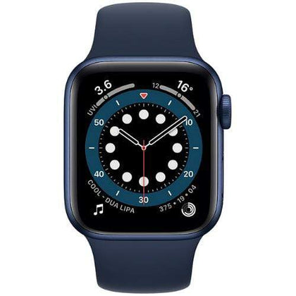 Apple Smart Watch Deep Navy Apple Watch Series 6, GPS 40mm Blue Aluminium Case with Sport Band