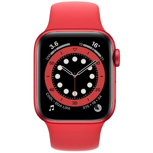 Apple Smart Watch Product Red Apple Watch Series 6, GPS+Cellular 40mm Product Red Aluminium Case with Sport Band