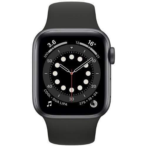 Apple Smart Watch Black Apple Watch Series 6, GPS+Cellular 40mm Space Grey Aluminium Case with Sport Band (US Spec)