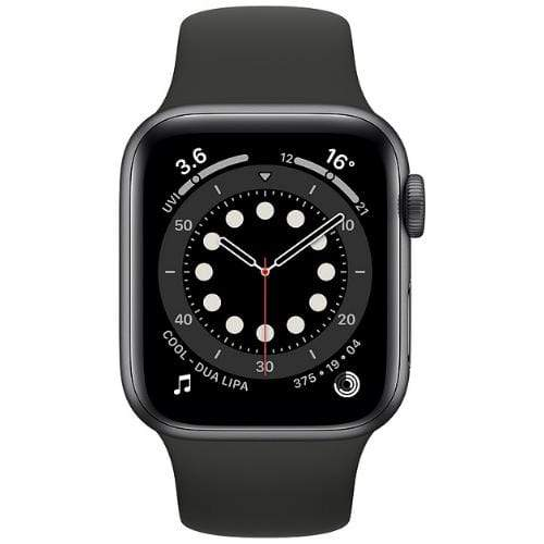 Apple Smart Watch Black Apple Watch Series 6, GPS 40mm Space Grey Aluminium Case with Sport Band