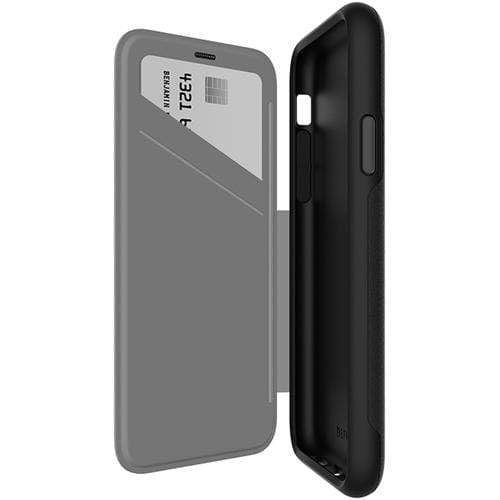 EFM Original Accessories Black/Space Grey EFM Monaco D3O Leather Wallet Case for iPhone X / XS (Australian Stock)