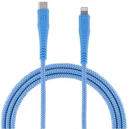 Momax Original Accessories Blue Momax Tough Link DL33 Lightning to Type-C Cable 1.2m (Australian Stock)