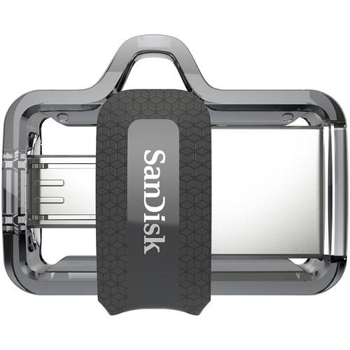 SanDisk Ultra Dual USB M3.0 Flash Drive 128GB - Front View