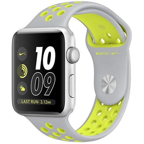 Smart Watch - Apple Watch Nike+, 38mm Silver Aluminum Case (with Flat Nike Sport Band)