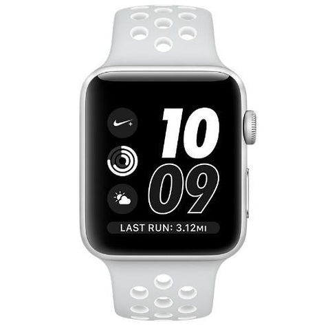 Smart Watch - Apple Watch Nike+, MQ172 38mm Silver Aluminum Case (with Pure Nike Sport Band)