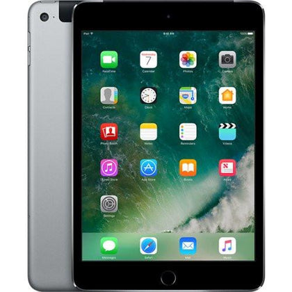 Apple Tablet Space Grey Refurbished Apple iPad Mini 4 (Australian Stock 128GB 4G LTE )