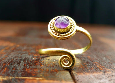 Adjustable Amethyst Ring -- Culture Cross