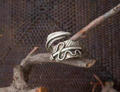 Adjustable Feather Ring -- Culture Cross