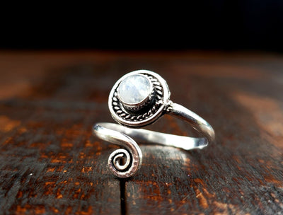Adjustable Moonstone Ring -- Culture Cross