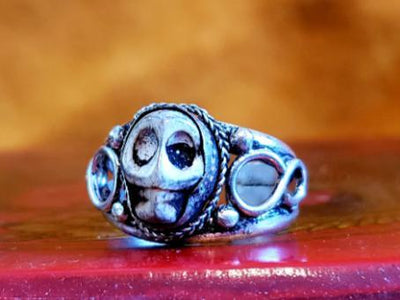 Adjustable Tibetan Skull Ring -- Culture Cross
